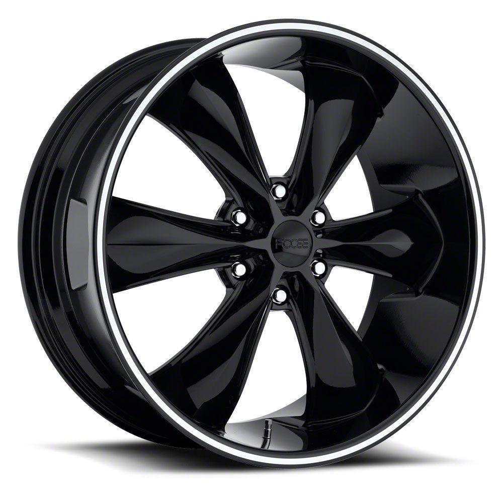 Foose Legend Six Gloss Black 6-Lug Wheel - 22x9.5 (99-18 Silverado 1500)