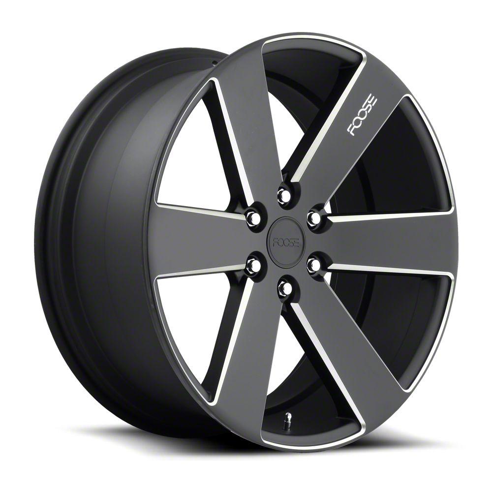 Foose Switch Black Milled 6-Lug Wheel - 22x9.5 (99-18 Silverado 1500)