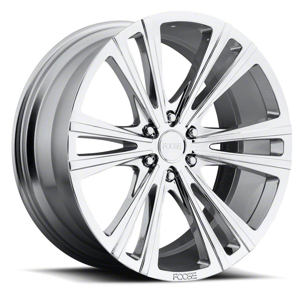 Foose Wedge Chrome 6-Lug Wheel - 22x9.5 (99-18 Silverado 1500)