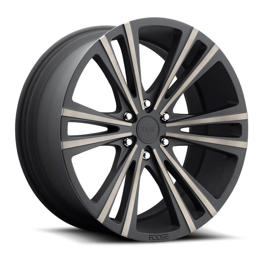 Foose Wedge Matte Black Machined 6-Lug Wheel - 22x9.5 (99-18 Silverado 1500)