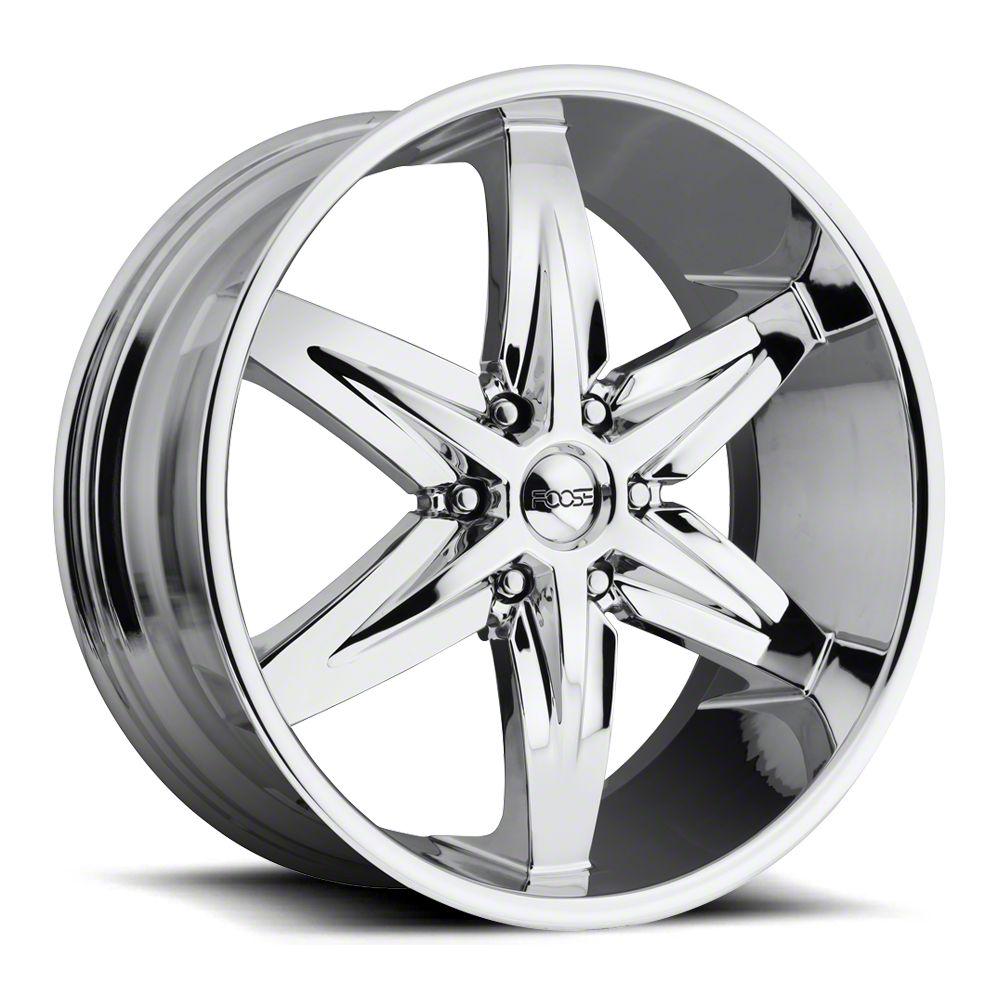 Foose Slider Chrome 6-Lug Wheel - 22x9.5 (99-18 Silverado 1500)