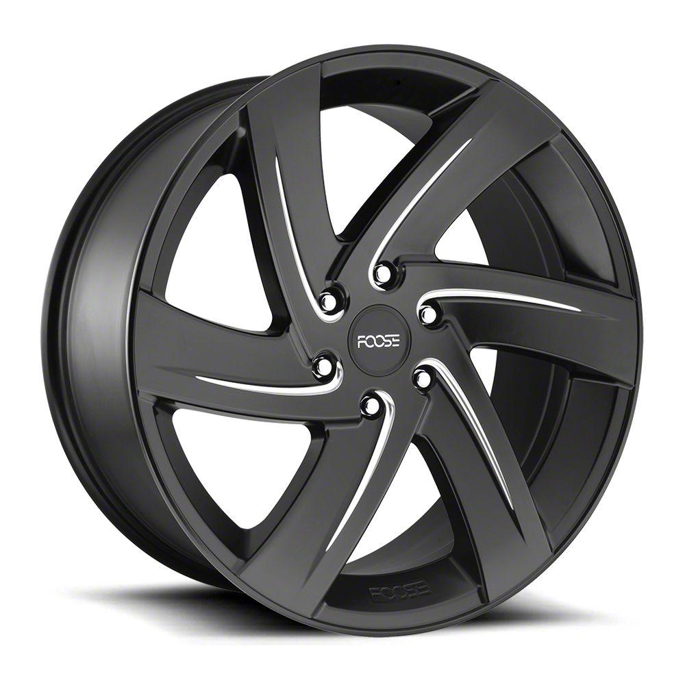 Foose Bodine Matte Black Milled 6-Lug Wheel - 22x9.5 (99-18 Silverado 1500)