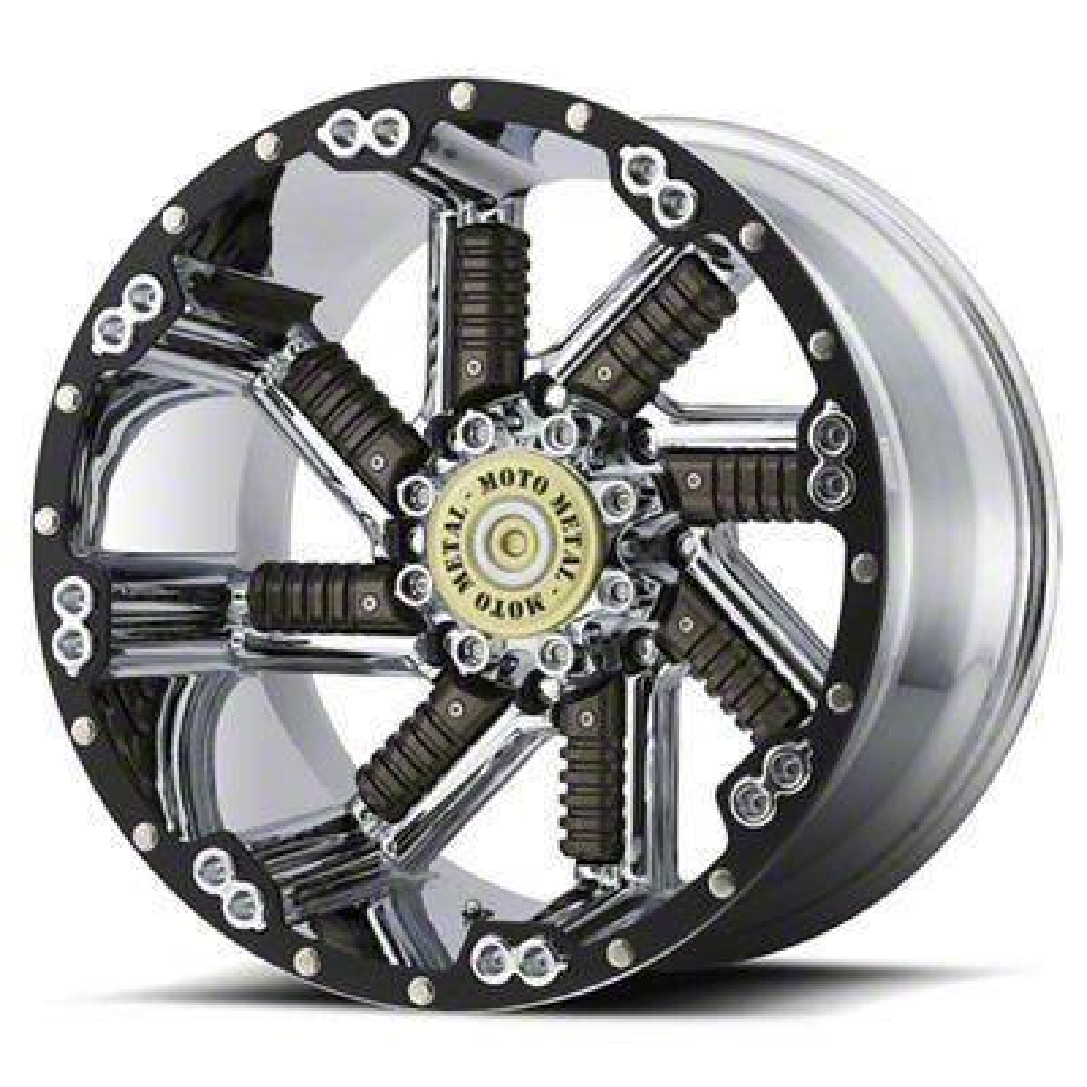 Moto Metal MO979 Buckshot Chrome & Gunmetal 6-Lug Wheel - 22x12 (99-19 Silverado 1500)