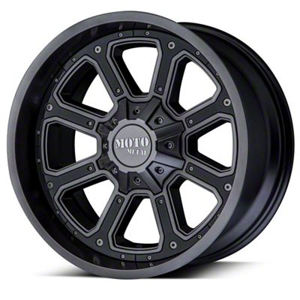 Moto Metal MO984 Shift Matte Gray 6-Lug Wheel - 22x14 (99-19 Silverado 1500)