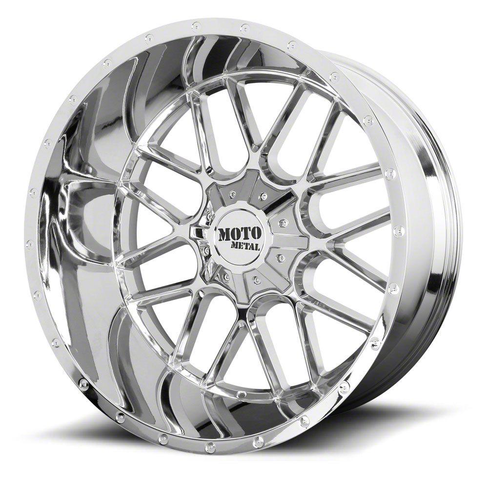 Moto Metal MO986 Siege Chrome 6-Lug Wheel - 24x14 (99-19 Silverado 1500)