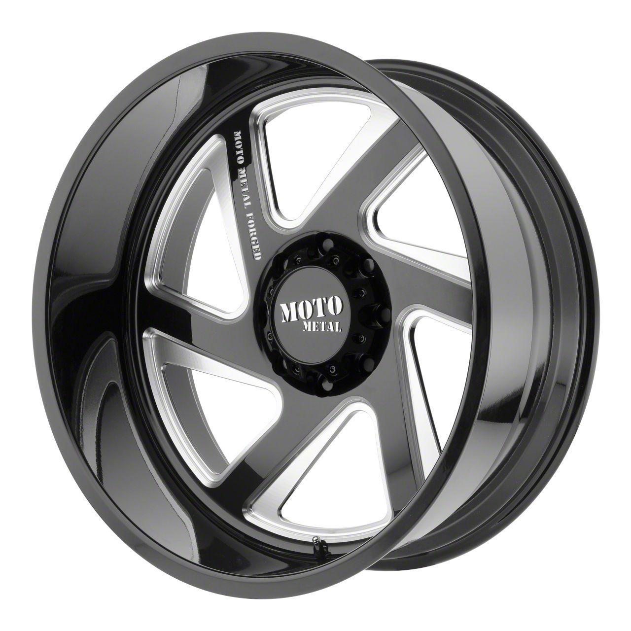 Moto Metal MO400 Gloss Black Milled 6-Lug Wheel - Driver Side - 22x12 (99-19 Silverado 1500)