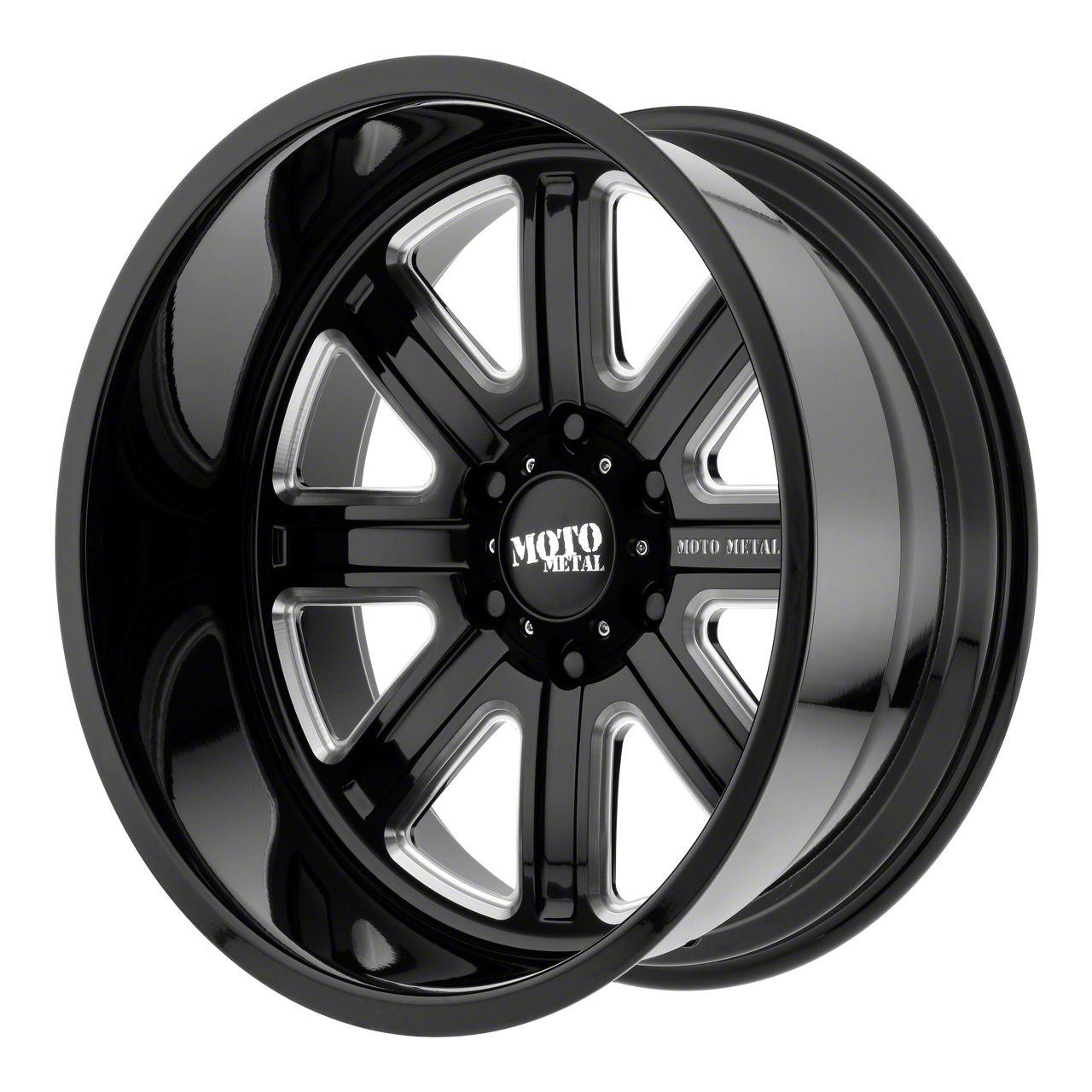 Moto Metal MO402 Gloss Black Milled 6-Lug Wheel - 24x14 (99-19 Silverado 1500)