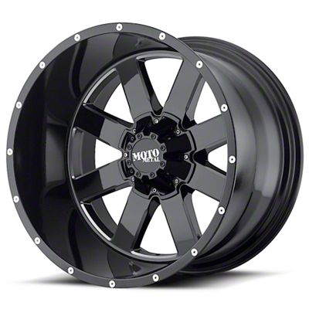 Moto Metal MO962 Gloss Black Milled 6-Lug Wheel - 22x14 (99-19 Silverado 1500)
