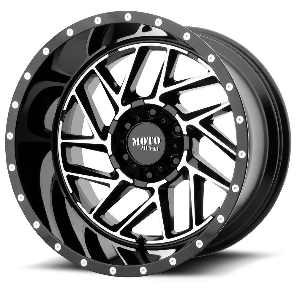 Moto Metal MO985 Breakout Gloss Black Machined 6-Lug Wheel - 20x12 (99-19 Silverado 1500)