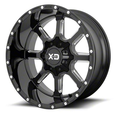 XD Mammoth Gloss Black Milled 6-Lug Wheel - 24x14 (99-18 Silverado 1500)