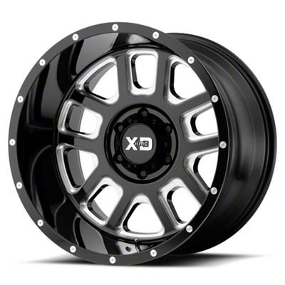 XD Delta Gloss Black Milled 6-Lug Wheel - 22x14 (99-18 Silverado 1500)