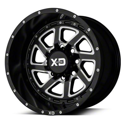 XD RECOIL Satin Black Milled 6-Lug Wheel - 22x14 (99-18 Silverado 1500)