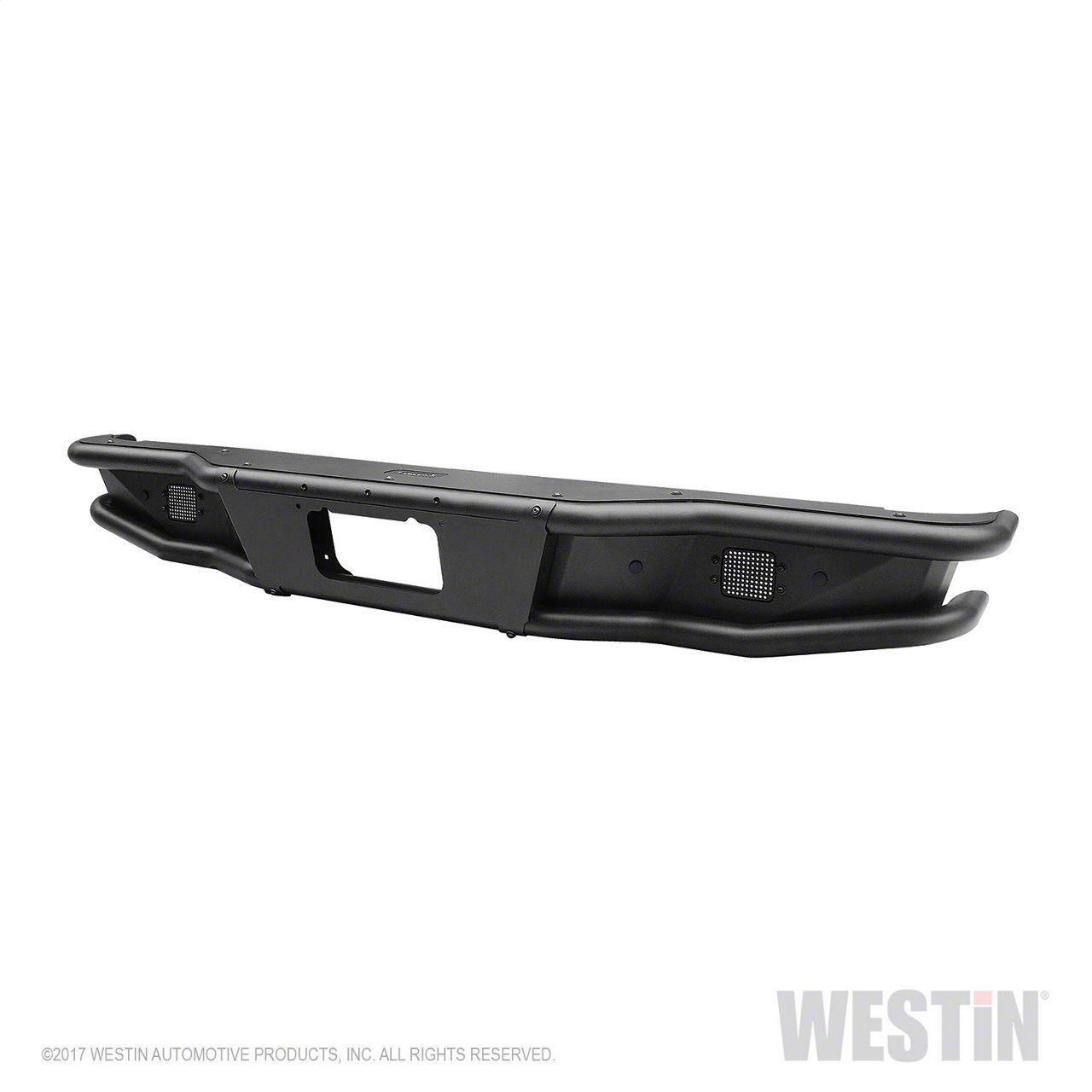 Westin Outlaw Rear Bumper - Textured Black (16-18 Silverado 1500)