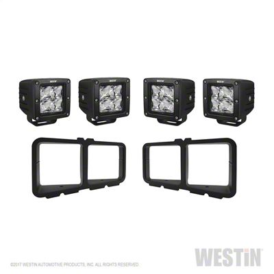 Westin Square HyperQ LED Light Kit for Outlaw Front Bumpers (14-18 Silverado 1500)
