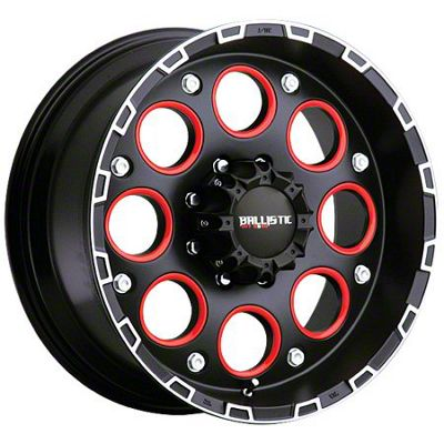 Ballistic Enigma Flat Black Machined 6-Lug Wheel - 17x9 (99-18 Silverado 1500)