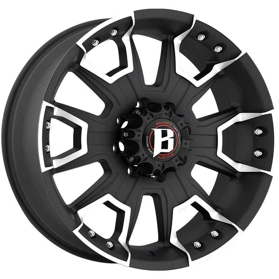 Ballistic Havoc Flat Black 6-Lug Wheel - 20x9 (99-18 Silverado 1500)