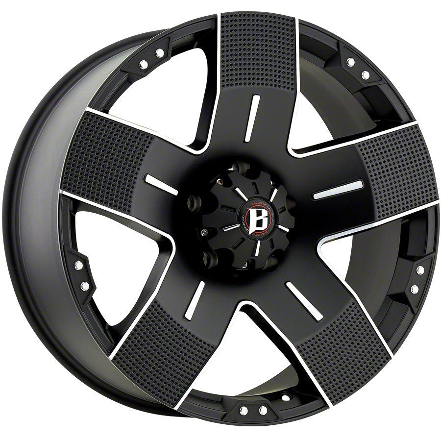 Ballistic Hyjak Flat Black 6-Lug Wheel - 20x9 (99-18 Silverado 1500)