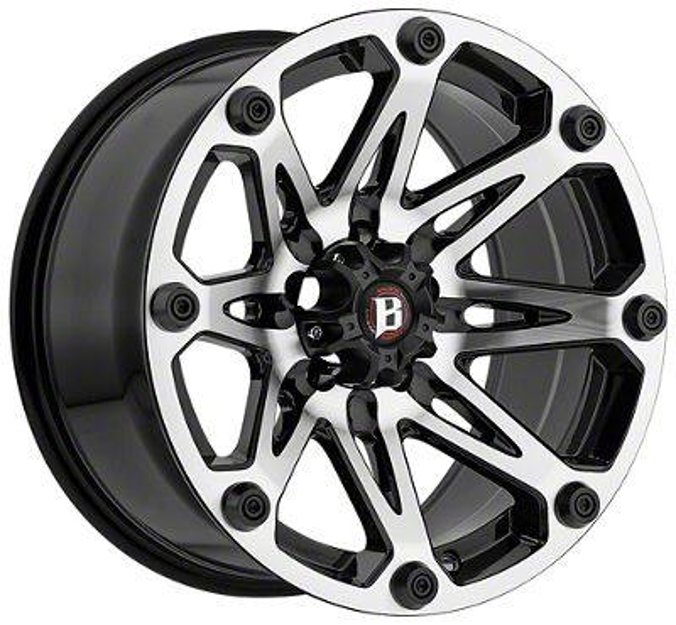Ballistic Jester Flat Black Machined 6-Lug Wheel - 20x9 (99-18 Silverado 1500)
