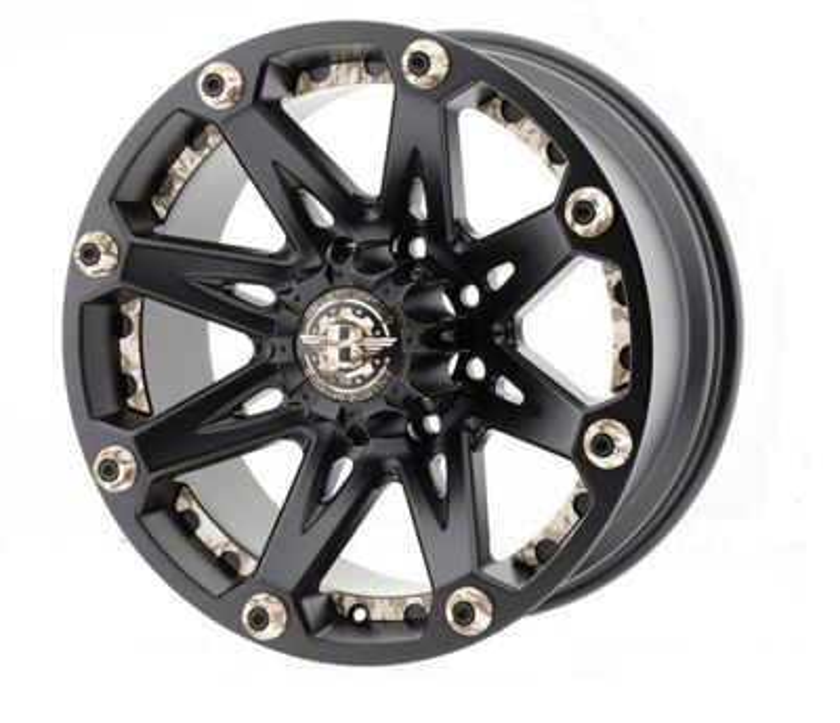 Ballistic Jester Flat Black w/ Camouflage Accents 6-Lug Wheel - 17x9 (99-18 Silverado 1500)