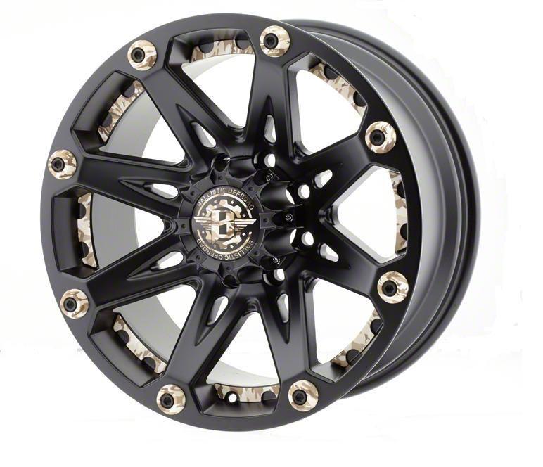 Ballistic Jester Flat Black w/ Camouflage Accents 6-Lug Wheel - 22x9.5 (99-18 Silverado 1500)