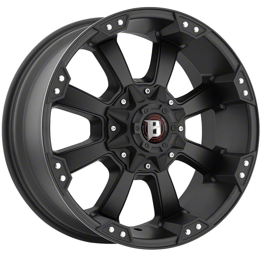 Ballistic Morax Flat Black 6-Lug Wheel - 17x9 (99-18 Silverado 1500)