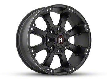 Ballistic Morax Flat Black 6-Lug Wheel - 18x9 (99-18 Silverado 1500)