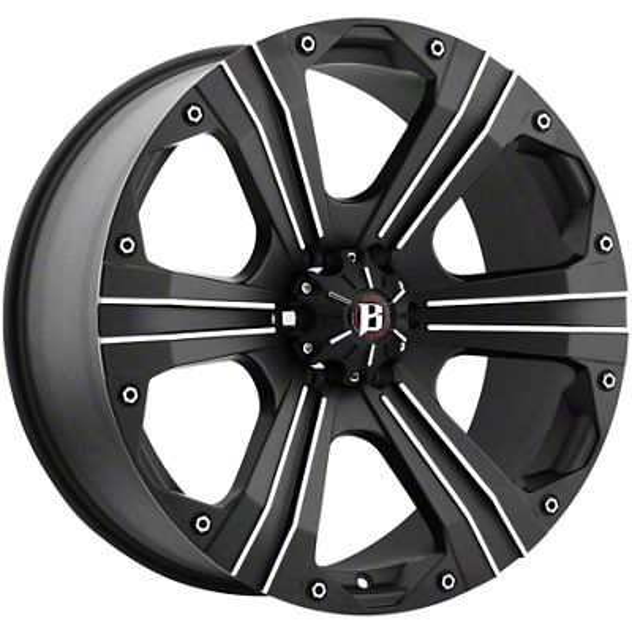 Ballistic Outlaw Flat Black 6-Lug Wheel - 18x9 (99-18 Silverado 1500)