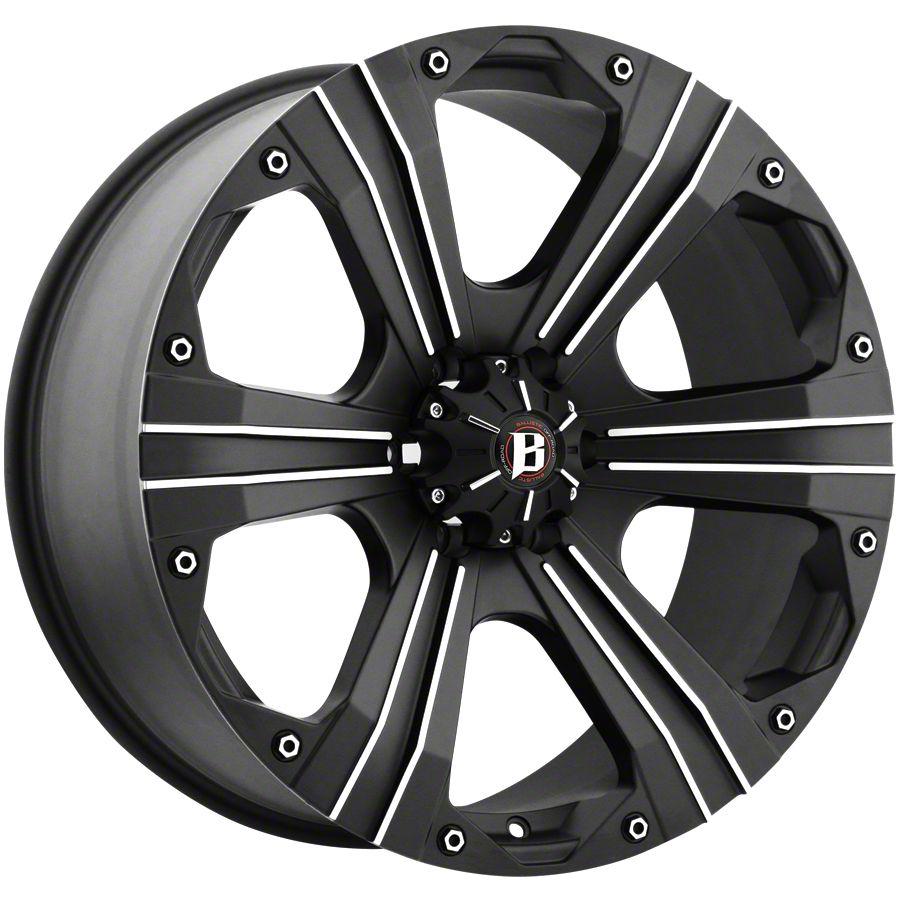 Ballistic Outlaw Flat Black 6-Lug Wheel - 20x9 (99-18 Silverado 1500)