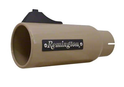 Remington Off-Road 4 in. Open Sight Exhaust Tip - Desert Tan - 2.5 in. Connection (99-18 Silverado 1500)