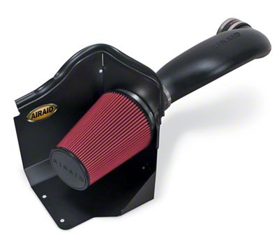 Airaid Cold Air Dam Intake w/ Red SynthaMax Dry Filter (2006 5.3L Silverado 1500 w/ Electric Cooling Fan & High Profile Hood)