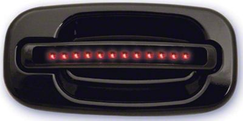 Alteon Rear Black Door Handles w/ Red LED & Smoked Lens (04-06 Silverado 1500 Crew Cab)
