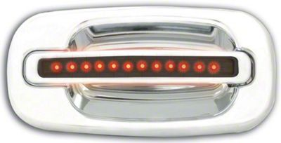 Alteon Rear Chrome Door Handles w/ Red LED & Smoked Lens (04-06 Silverado 1500 Crew Cab)
