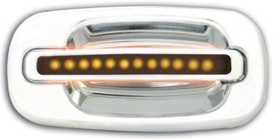 Alteon Rear Chrome Door Handles w/ Amber LED & Smoked Lens (04-06 Silverado 1500 Crew Cab)