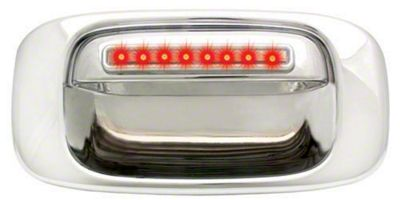 Modern Billet Chrome Tailgate Handle w/ Red LED & Clear Lens (99-06 Silverado 1500)