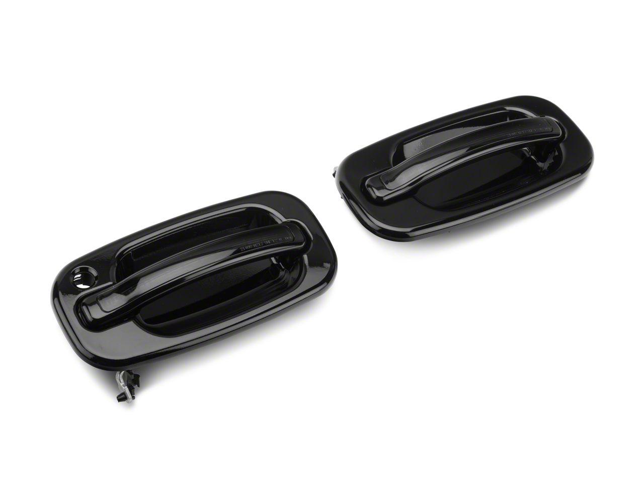 Alteon Front Black Door Handles w/ Amber LED & Smoked Lens (99-06 Silverado 1500)