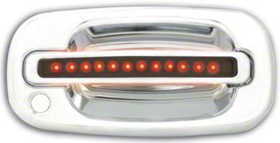 Modern Billet Front Chrome Door Handles w/ Red LED & Smoked Lens (99-06 Silverado 1500)