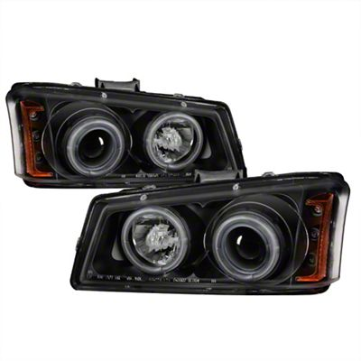 Axial Black Projector Headlights w/ CCFL Halo (03-06 Silverado 1500)