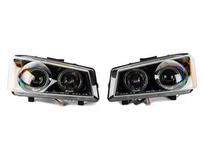 Axial Black Projector Headlights w/ LED Halo (03-06 Silverado 1500)