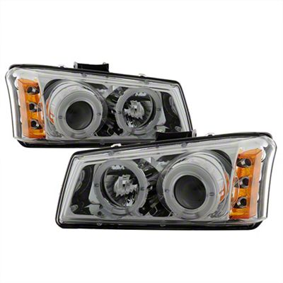 Axial Chrome Projector Headlights w/ LED Halo (03-06 Silverado 1500)