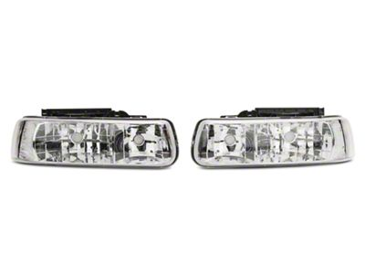 Axial Chrome Euro Style Headlights (99-02 Silverado 1500)