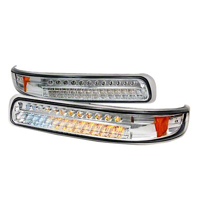 Axial Chrome LED Turn Signal & Parking Lights - Clear Lens (99-02 Silverado 1500)