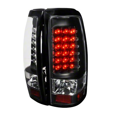 Axial Black LED Tail Lights - Clear Lens (99-02 Silverado 1500 Fleetside)