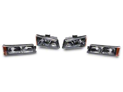 Axial Black Crystal Headlights & Bumper Lights (03-06 Silverado 1500)