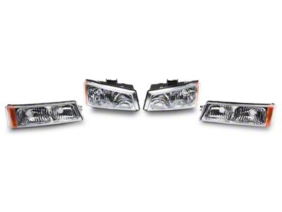 Axial Chrome Crystal Headlights & Bumper Lights (03-06 Silverado 1500)