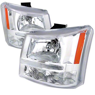 Axial 1-Piece Chrome Euro Headlights & Bumper Lights (03-06 Silverado 1500)