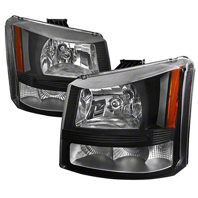 Axial 1-Piece Black Euro Headlights & Bumper Lights (03-06 Silverado 1500)
