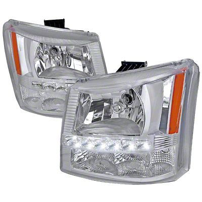 Axial 1-Piece Chrome SMD LED Headlights & Bumper Lights (03-06 Silverado 1500)
