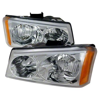 Axial Chrome Euro Headlights (03-06 Silverado 1500)