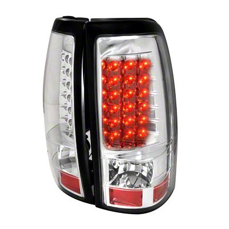 Axial Chrome LED Tail Lights - Clear Lens (03-06 Silverado 1500 Fleetside)