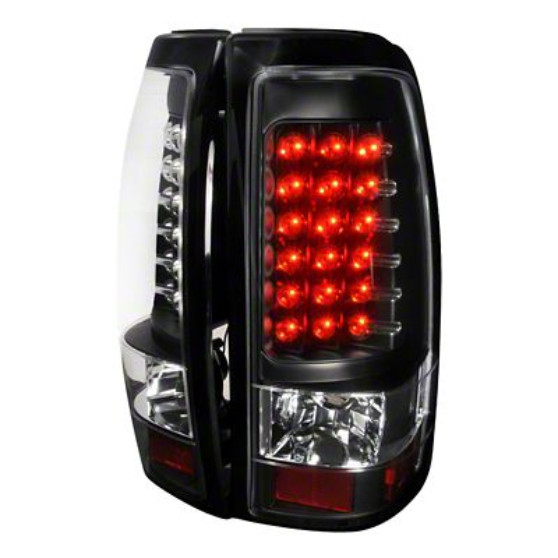 Axial Black LED Tail Lights - Clear Lens (03-06 Silverado 1500 Fleetside)